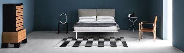 Стильная синяя спальня фото