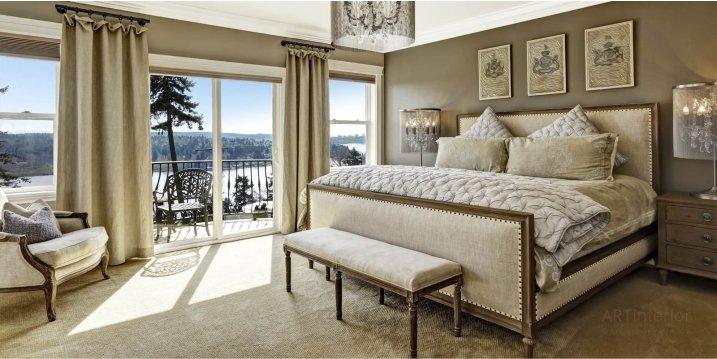 Спальня светлая фото