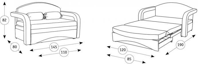 Детский диван-кровать Антошка схема