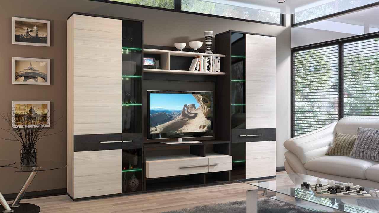 модульная стенка в гостиную фото